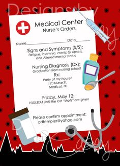 Nurse Graduate Party Invite Printable DIY by caseyholly123 on Etsy, $12.00