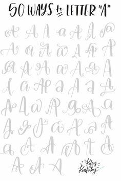 104 besten Lettering Bilder auf Pinterest | Schöne schrift ...