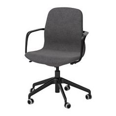 IKEA LÅNGFJÄLL Swivel chair Gunnared dark grey/black You can lean back with perfect balance, as the tilt tension mechanism is easy to adjust with an. Used Office Chairs, Office Chair Without Wheels, Kallax Shelf Unit, Seat Foam, Ikea Family, Conference Chairs, Ergonomic Office Chair, Upholstery Cleaner, Chairs