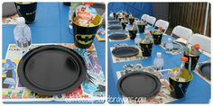 Yes! Only swap Batman for Spiderman..Party Table and Comic Book Placemats. I really like how she served the sides in buckets. :)