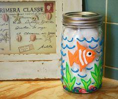 Puffy Paint Bathroom Jar