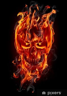 Illustration about Fire skull isolated on black. Illustration of bone, doom, idea - 19155606 Dark Fantasy Art, Dark Art, Flash Wallpaper, Skull Wallpaper, Blue Ghost Rider, Ghost Rider Wallpaper, Skull Fire, Fire Tattoo, Wall Tattoo
