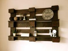 Wandregale - Wandregal aus Palette - ein Designerstück von Paletino bei DaWanda