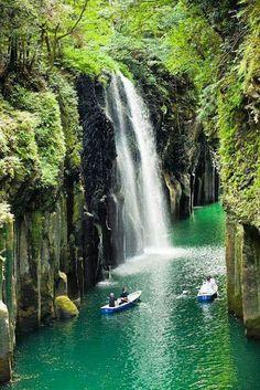 Manai Falls, takachicho Gorge, Japan.