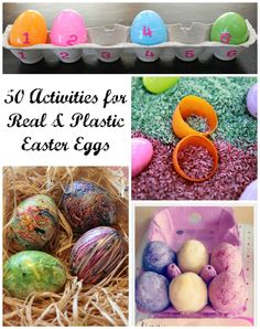 50 Activities for Real and Plastic Easter Eggs from Reading Confetti