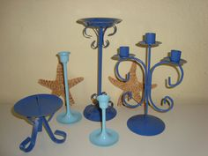 Seaside Candlestick Collection  Painted Beach by mushroommary, $18.00