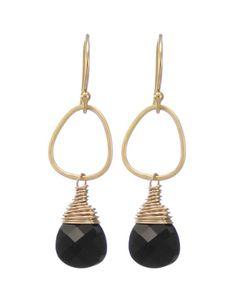 Moonrise Jewelry - Giza Earrings- Jet Black