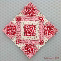 Block 63 - Nearly Insane Quilt Red White