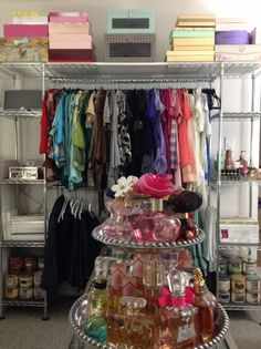 Closet organizer by Seville Classics (background) purchased via Home Depot online.