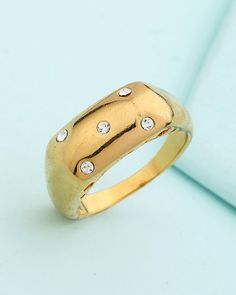 Bold Heart Designer Gold Plated Ring