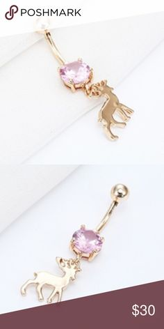 Deer belly button ring  Very cute deer belly button ring stander size very cute pleas comment if you have any questions ❤️️ Jewelry Rings