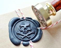 Skull Pirate Wax Stamp