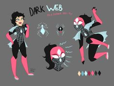 Character by Sofiazv Spider Art, Spider Gwen, Spider Verse, Superhero Memes, Superhero Characters, Super Hero Outfits, Super Hero Costumes, Venom, Villain Costumes