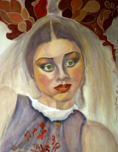 Russian Bride painting by www.odette-valks.exposeert.com