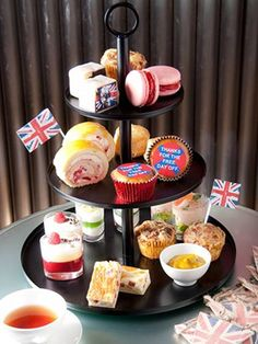 An-Tea Establishment Afternoon Tea at London's Metropolitan Hotel, during the frenzy over the royal wedding.