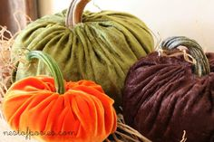 How to make velvet pumpkins with real stems