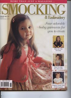 Australian Smocking and Embroidery magazine, issue 81. See the contents page in the photos for a complete listing of articles and projects. Complete