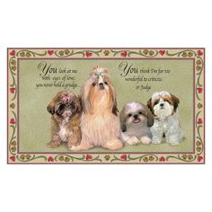 shih tzu collectibles | Shih Tzu Area Rug - main