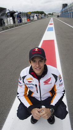 Marc Marquez at Assen Circuit! :) so handsome!