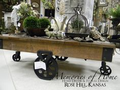 """$409.95 reclaimed-wood-table--What better way to say, """"Make yourself at home here."""""""