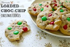 Mrs D plus 3 | Thermomix Christmas loaded choc-chip cookies | http://www.mrsdplus3.com