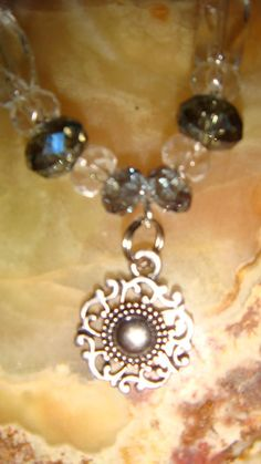 Clear & Sparkly, Simple Pendant Anklet