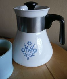 Corningware Patterns | bought this Cornflower teapot.