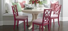 Our new lattice back chair in our Custom Dining Collection.