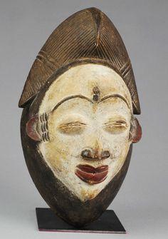 Masque PUNU Gabon mask Arts Premiers d'Afrique Tribal African Africain masker   eBay