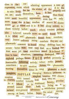 Digital Collage Print Sheet 'Words' - Freebie Journal Stickers, Scrapbook Stickers, Scrapbook Paper, Word Collage, Collage Sheet, Free Collage, Collage Art, Kunstjournal Inspiration, Art Journal Inspiration