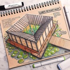 Architectural Concept Drawings.
