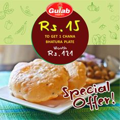 Rs.15 To Get 1 Chana Bhatura Plate Worth Rs.121 #gulab   #panchkula   Get Upto 80% discount on Salon, Spa, Gym, Restaurants, Travel & More...   For #Exciting #Deals Visit - www.amazedeal.in   #Amazedeal #Chandigarh #Panchkula #Mohali #Zirakpur #Deals   #offer #food   #drinks   #bhatura   #chana