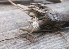 Quarter Carat Naples Diamond Engagement Ring  14kt by OliviaEwing, $998.00