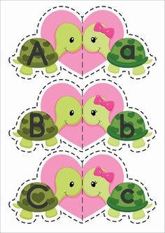 FREE Valentine Turtles upper and lower case match with response sheet.