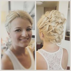 Saturday's beautiful bride.  #bride #braidupdo #bridalhair #bridalupdo #updo #curls #blondehair #platinumblonde #wedding #weddingday #bridalmakeup #makeup #makeupartist #hairstyle #hairstylist #falselashes #airbrushmakeup #temptu #phillywedding #hiltonpennslanding #nancycarolinebridalstyling