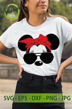 Minnie Mouse Head with Bow svg file for cricut, Minnie Mouse Sunglesses Minnie Mouse SVG Disney svg Minnie Mouse Cricut Ideas, Minnie Mouse Shirts, Minnie Mouse Bow, Disney Shirts, Disney Outfits, Cut Canvas, Scan And Cut, Cricut Tutorials, Vinyl Shirts