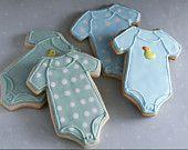 Homemade Baby Shower Boy or Girl Onesies Sugar Cookie Collection (1 Dozen)