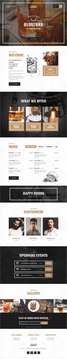 OldStory is modern and functional design 2 in 1 #Bootstrap HTML template for restaurant, #cafe, #cocktail #bar, coffee shop, brewery, tavern website download now➩ https://themeforest.net/item/oldstory-whisky-bar-pub-restaurant-site-template/17455992?ref=Datasata