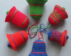 Crochet Pattern Crochet Christmas Bells Pattern No. by ZoomYummy