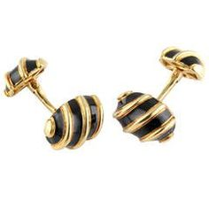 Tiffany and Co. Schlumberger Gold Knot Cufflinks at 1stdibs