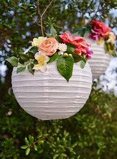 DIY flower paper lanterns tutorial to replace balloon decoration!