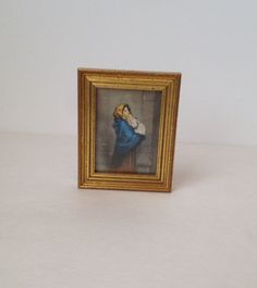 Ferruzzi Madonna of the Streets Mini Art Reproduction on Silk Framed Art Robert Ferruzzi by SissyBoomsPartyRoom on Etsy