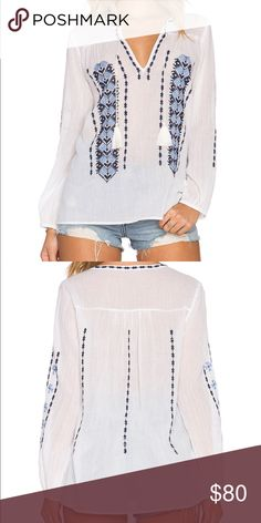 Joie calantha top in porcelain Nwt this gorgeous boho beachy fresh breathable top. Joie Tops Blouses