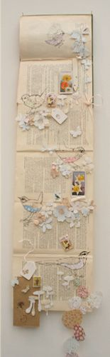 Artist's book by Philippa Leith  Pinned on my ink board for the bird drawings. One day.
