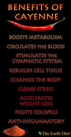 Great List Of The Health Boosting Properties Of Cayenne