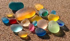 Sea glass and beach treasures