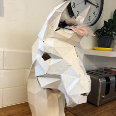 Michelle Higgs added a photo of their purchase 3d Paper Crafts, Diy Paper, Low Poly, Panther, Origami, Paper Bunny, Printable Masks, Paper Mask, Animal Masks