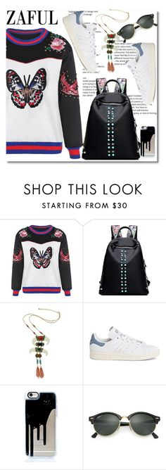 """Beautiful is my attire"" by aida-nurkovic ❤ liked on Polyvore featuring adidas and Ray-Ban"