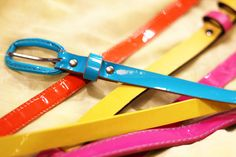 Colour belts from Beyond Retro!
