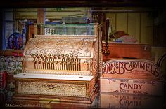 There was a time when three dollars would have purchased a weeks groceries. Today that would need several zeros behind it. #brass,#cash,#register,#money,#candy
